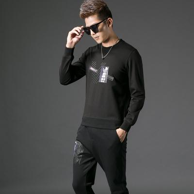 2017秋季修身型男士圆领卫衣#XD-178078