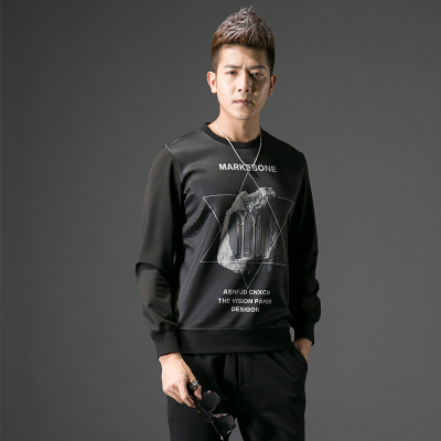 2017秋季修身型男士圆领卫衣#XD-178079