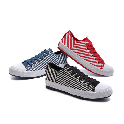 一步韩潮校园浅品帆布鞋 w155062