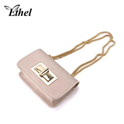 珠艺Ethel 时尚锁扣立体精巧斜跨单肩手拿小包晚宴包 7022211CHN