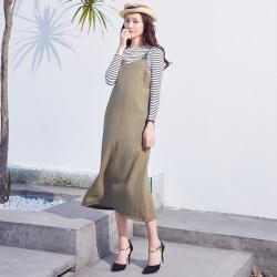 半简主义 时尚连衣裙女QS078