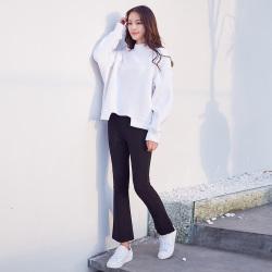 半简主义 时尚裤子女17ASS102-1