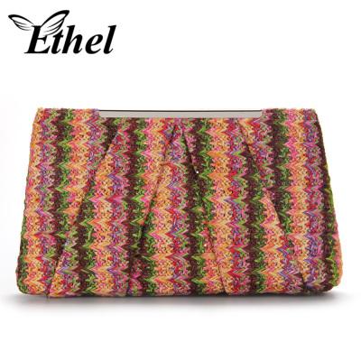 珠艺Ethel 草料手工编织精巧斜跨单肩手拿小包晚宴包 JY0995
