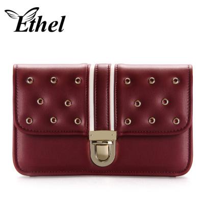 珠艺Ethel 经典锁扣精巧斜跨单肩手拿小包晚宴包 JY1118