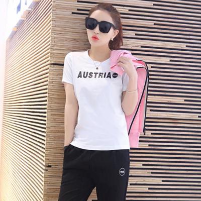 萨曼世家 2017年秋冬季新品时尚显瘦修身简约休闲女装棉衣三件套套装 8806