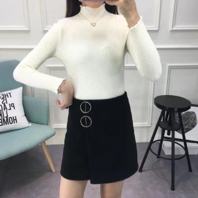J.S.YU 新款高领修身纯色韩版高领修身针织纱 JS7C03