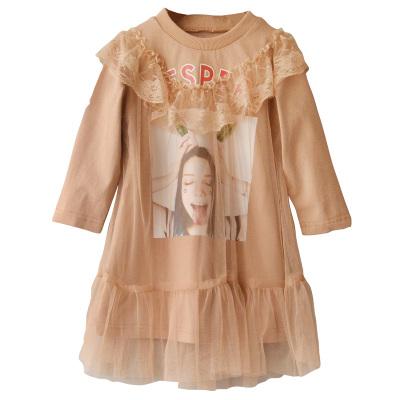 2017新款女童公主裙新款宝宝网纱连衣裙儿童长袖裙子