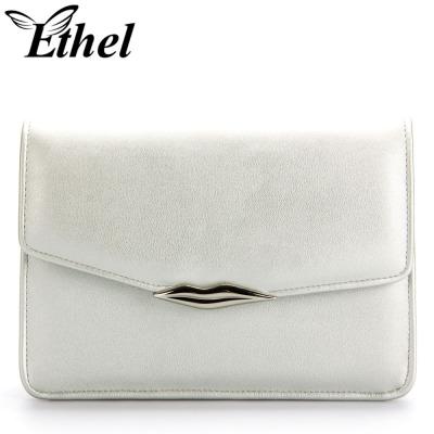 珠艺Ethel 精巧嘴唇OL风斜跨单肩手拿小包 JY0555
