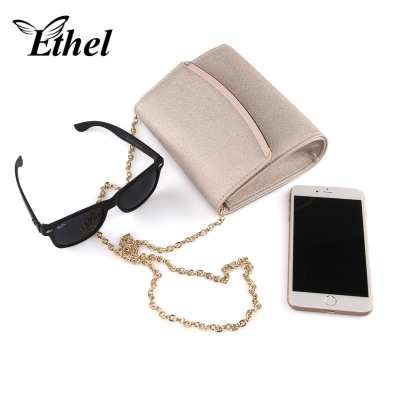 珠艺Ethel 精巧弧形金属斜跨单肩手拿小包 7032062REN
