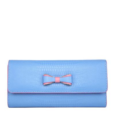 APPLES 新款韩版头层牛皮鳄鱼纹女士手拿包钱包 PS117001-12
