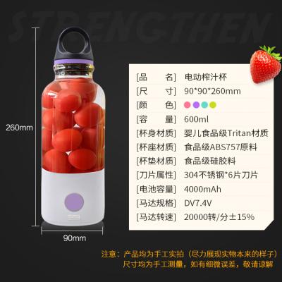 电动榨汁杯 紫色