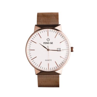 风格/FENG GE 新款手表时尚潮流简约男士手表正品防水情侣石英表