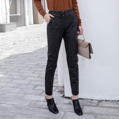 慕思雨2017年新款上新时尚新款格子长裤7557