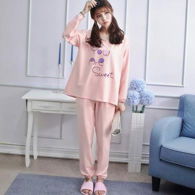 THERESA 2017新款秋冬小脚口两件套套装英文秋款家居服睡衣 N9005