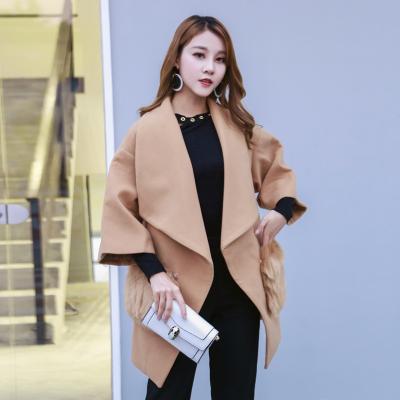 果倍儿 2017冬季新款时尚韩版毛呢外套 7633