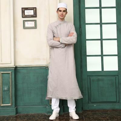 阿丽法男装长袖外套中国风长款特色服饰民族风 ALF678NO11