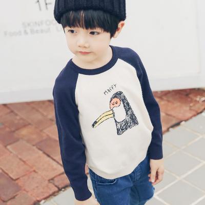 PONIPONCHI 新款潮流圆领时尚拼袖毛衣 J007#