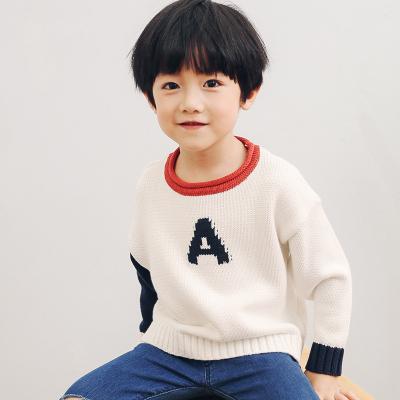 PONIPONCHI 圆领时尚拼袖毛衣 Z005#