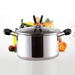 【品高乐】不锈钢汤锅家用电磁炉通用16/18cm