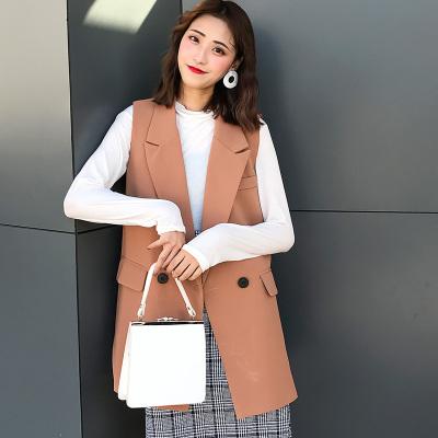 LYDIA 2017新款秋宽松韩版纯色修身百搭马甲 MJ1#