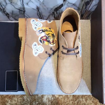 欧尚毕威 麂皮 刺绣 系带 靴子