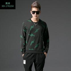 久昂时尚2017秋季修身型男士圆领卫衣
