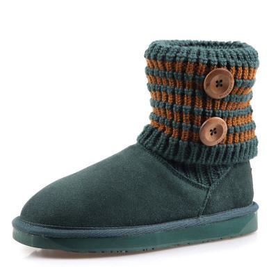 每度(MEIDU)新款韩版磨砂牛皮女短靴雪地靴清仓欧美靴子L31X102