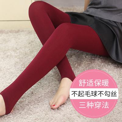 新女装打底裤外穿修身显瘦小脚裤子韩版拉绒拉毛裤