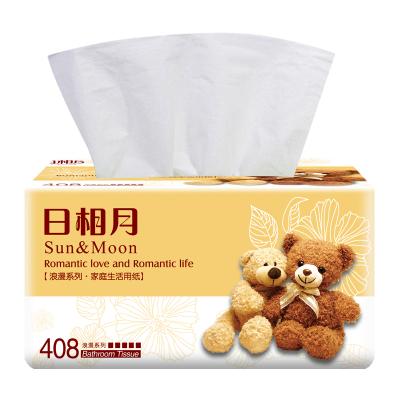 日相月6包整箱抽纸家用卫生纸面巾纸生活纸抽餐巾纸厂家直销包邮866