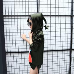 傲娃2017年新款上新时尚印花卫衣时尚带帽
