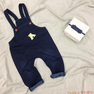 Super RuRu 日韩系休闲风男女童针织牛仔背带裤 SR02