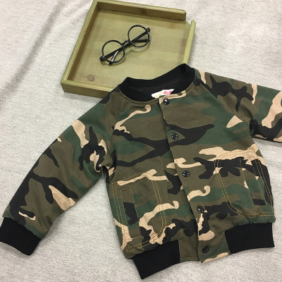 Super RuRu 日韩系秋冬迷彩夹棉棒球服外套 SR16