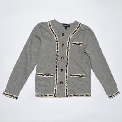 2017年秋冬新款女童织带外套