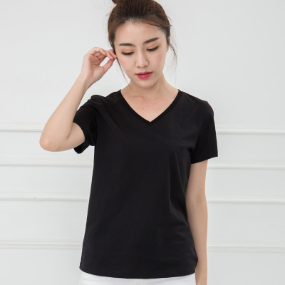 保罗法利那 女士V领T恤短袖  TA8V171-LY