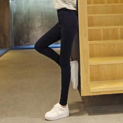 珂织珂索 2017春秋装新款纯色百搭超弹小脚裤女修身高腰针织打底裤子