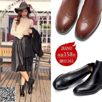 【活动款】益都 冬季真皮切尔西短靴女