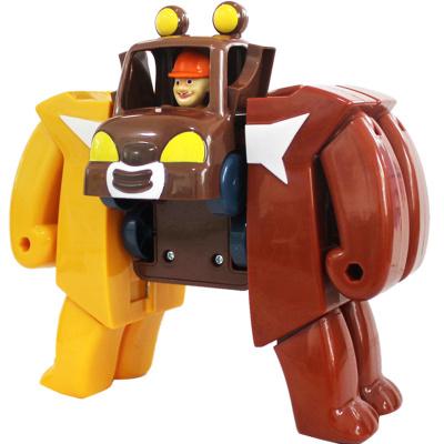 灵动熊出没之熊熊乐园玩具光头强熊大熊二英熊合体变形机器人5631