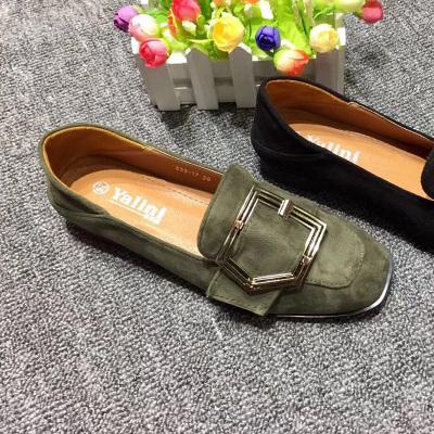 足尚 韩版新款方跟舒适单鞋女鞋 533-17