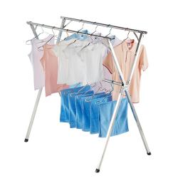 爱尚阳光 不锈钢可折叠晒衣架晒架衣杆
