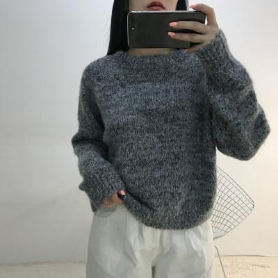 lambs女装2017年时尚新款针织衫上衣长袖纯色7179#