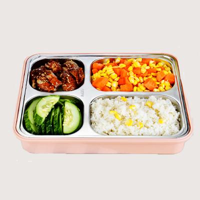 【仁品】304不锈钢分格保温饭盒便当盒学生成人双层