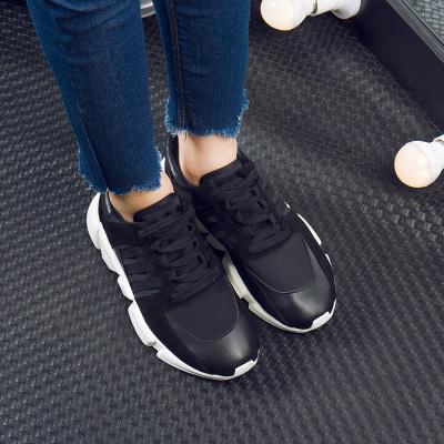 拓涵 2017冬季新款减震耐磨轻便旅游平底系带运动鞋女性慢跑鞋休