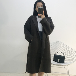 lambs女装 2017年冬款上新百搭针织衫外套 6205