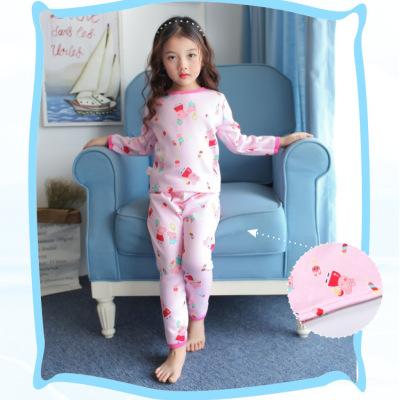 一件代发女宝宝秋衣秋裤女儿童长袖保暖内衣女孩春秋睡衣两件套装