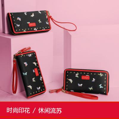 斯诺 时尚印花流苏女钱包 CP0014