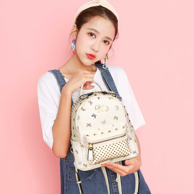 斯诺 休闲韩版印花时尚女士双肩包 CP0023