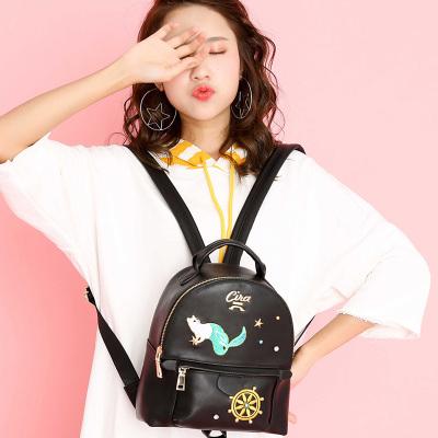 斯诺 潮流时尚印花韩版女士双肩包 CP0113