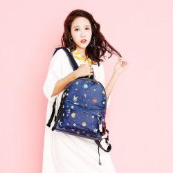 斯诺 韩版休闲时尚印花女士双肩包 CP0103