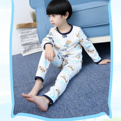 一件代发儿童装内衣套装男童秋衣秋裤宝宝长袖保暖睡衣春秋两件套