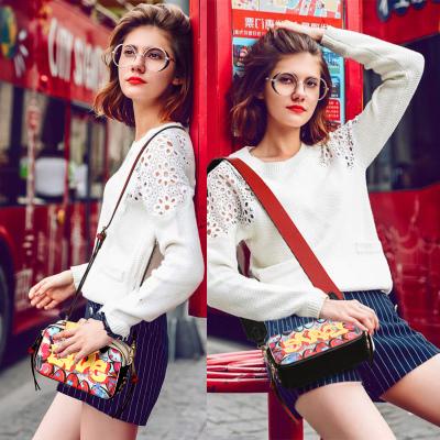 斯诺 潮流韩版时尚印花两用肩带单肩斜挎女包 CP0281